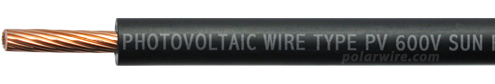 Polar Wire 10 gauge 600V Solar Photovoltaic Wire
