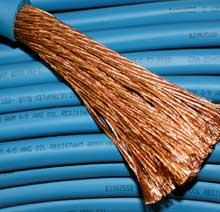 Arctic Ultra-Flex Blue's finely stranded copper construction gives ultra flexibility, even in extreme cold.